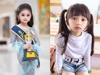 Bé gái xinh như Hoa hậu làm chao đảo cư dân mạng, khuôn mặt khi không trang điểm lại càng bất ngờ