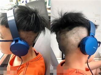"""Bé trai được bố mẹ """"song kiếm hợp bích"""" cắt cho mái tóc cực ngầu, tưởng tạm ổn nhưng cả nhà cùng choáng khi cậu bé ngủ dậy"""