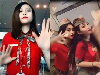 Clip nữ tiếp viên hàng không nhảy múa cực duyên dáng khoe đường cong gợi cảm trong khoang máy bay đốt mắt người nhìn