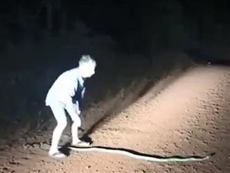 Đang lái xe trên đường lúc nửa đêm, thanh niên dừng lại làm điều này nhưng một lát sau đã bỏ của chạy lấy người