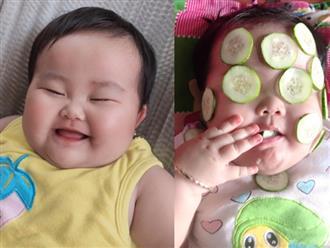 Được mẹ đắp mặt nạ dưa leo, bé gái bụ bẫm lén lút làm một điều khiến ai thấy cũng phải cười nghiêng ngả