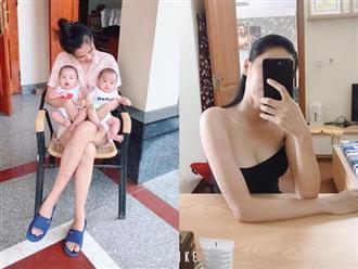 """Mẹ mang song thai chỉ tăng 14kg, sinh xong đã """"thanh lý"""" hết mỡ thừa, lấy lại vòng eo 61 nhờ 2 bí quyết đơn giản"""