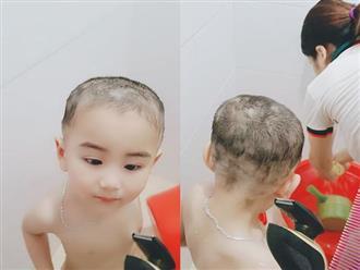 """Ngại bế con ra cửa hàng cắt tóc, ông bố trẻ chơi lớn tự mình cầm kéo và cái kết khiến bạn bè người thân """"cạn lời"""""""