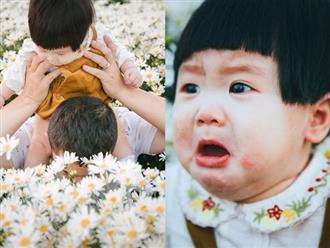 """Nhiếp ảnh gia tiết lộ hậu trường đầy bất ngờ phía sau bức ảnh bé gái """"thèm uống sữa mà mẹ cứ bắt đi chụp cúc họa mi"""""""