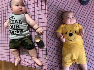 """Nhìn đôi má bánh bao của """"cậu bé Bút Chì"""" phiên bản đời thực, chẳng ai ngờ bé từng sinh non đến 1 tháng"""