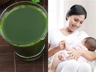 15 loại nước tự nấu giúp mẹ hết tắc tia sữa, sữa về ƯỚT ÁO, BÉO THƠM