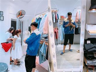 """Vừa lĩnh lương, anh chồng """"quốc dân"""" đã dẫn bà xã đi mua váy mới: Mình nhếch nhác thế nào cũng được, nhưng vợ luôn phải xinh đẹp nhất!"""