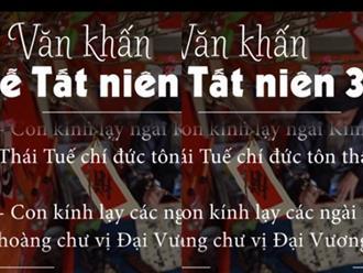 """Bài cúng tất niên chiều 30 Tết theo """"Văn khấn cổ truyền Việt Nam"""""""