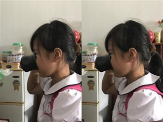 Xót xa lời kể của bé gái bị cô giáo phạt uống nước giẻ lau bảng