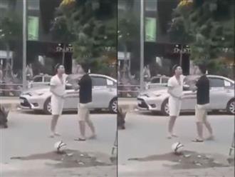Clip sốc: Ca sĩ Châu Việt Cường đánh người sau va chạm giao thông
