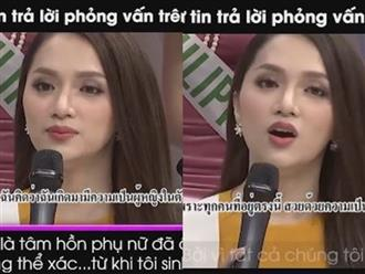 Cận cảnh Hương Giang mặc áo dài thướt tha xuất hiện trên sóng truyền hình Thái Lan
