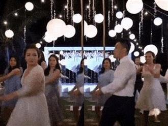 Cô dâu - chú rể nhảy như 'dancer' chuyên nghiệp trong đám cưới