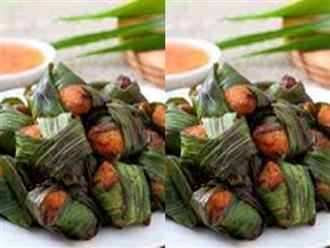 Cách làm cơm gà nướng lá nếp kiểu Thái vàng ươm, thơm ngon