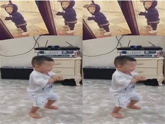 Con trai Mạc Hồng Quân - Kỳ Hân nhảy 'Gangnam Style' siêu đáng yêu