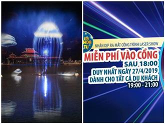 Đầm Sen chính thức khai trương công nghệ laser – màn hình nước 3D chào mừng đại lễ 30/4 - 1/5