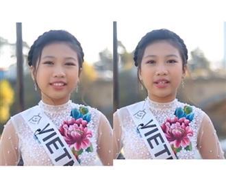 Ngả mũ trước khả năng nói tiếng Anh như gió của Hoa hậu Hoàn vũ nhí Ngọc Lan Vy