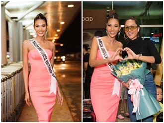 H'hen Niê xinh đẹp cá tính đến tiễn Hoàng Thùy dự thi Miss Universe 2019