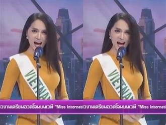 Hương Giang Idol mặc áo dài, nói tiếng Anh 'cực đỉnh' trên sóng truyền hình Thái Lan