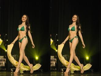 Hương Giang khoe body bốc lửa tự tin catwalk trong phần trình diễn bikini