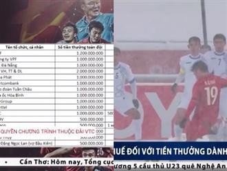 U23 Việt Nam được thưởng bao nhiêu và đóng thuế thế nào?