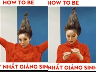 Hoa hậu Kỳ Duyên hướng dẫn làm tóc cực ấn tượng mùa Giáng Sinh