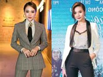 Minh Hằng và Thanh Hằng đọ sắc trong buổi ra mắt phim Mùa viết tình ca