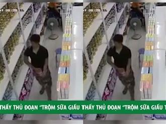 Nam 'đạo chích' vào siêu thị, trộm sữa giấu trong quần bị camera ghi lại