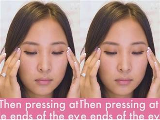 Cách massage đơn giản để làm dịu mắt sưng phồng sau khi ngủ dậy