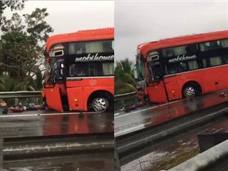 Hiện trường vụ tai nạn giao thông 4 ô tô tông nhau liên hoàn trên cao tốc TP.HCM - Trung Lương