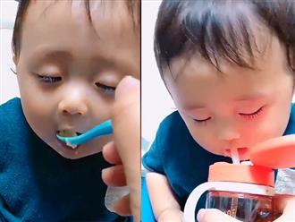 Cười rung rốn: Khi bé buồn ngủ mà mẹ cứ bắt ăn...