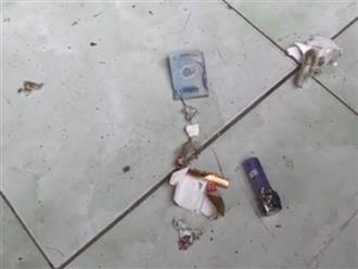 Bao thuốc lá bất ngờ phát nổ, người đàn ông bị thương ở tay