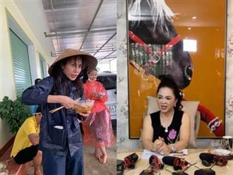 Bà Nguyễn Phương Hằng 'ám chỉ' mình như ca sĩ Thủy Tiên: 'Người ta đi làm từ thiện, lội mưa, lội sình, lội nắng mà dám ở nhà chửi'