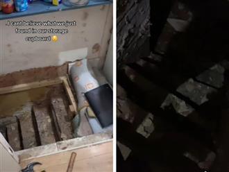 Đang dọn dẹp nhà, nữ TikToker phát hiện căn hầm kinh dị bên dưới sàn gỗ, mục đích của nó càng khiến người xem 'lạnh xương sống'