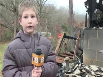 Cậu bé 7 tuổi được tôn làm người hùng nhờ hành động quả cảm giúp cứu mạng em út 22 tháng tuổi