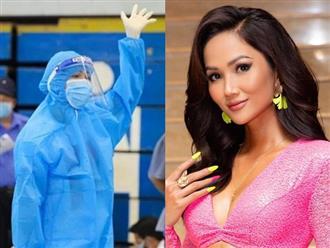 Hoa hậu H'Hen Niê làm tình nguyện trong đợt tiêm vắc xin Covid-19: 'Các bác sỹ mệt mỏi thấy thương vô cùng'