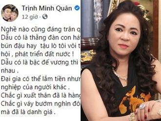 Nam ca sĩ Minh Quân lên tiếng khi nghệ sĩ bị gọi là 'đám': 'Đại gia có thể lắm tiền nhưng không có quyền khinh thường nghề nghiệp của người khác'