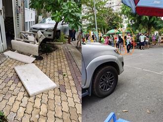 Xôn xao cảnh nữ tài xế lao xe lên vỉa hè khiến 4 người bị thương