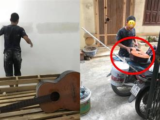 """Thích cây đàn guitar cũ, anh thợ sửa nhà có cách """"xin"""" cực chuẩn, khiến ai cũng thấy vui theo"""