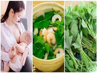 Top 5 thực phẩm giúp mẹ mát sữa, con bú ngoan lại còn thông minh vượt trội
