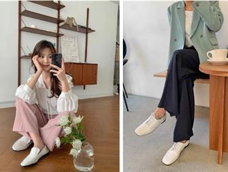 5 mẫu giày dép gái Hàn đang chuộng mix với quần âu để sang chảnh hóa cả set đồ công sở