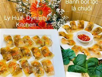 Mẹ đảm mách chị em cách làm bánh bột lọc lá chuối, đơn giản nhanh gọn và cực ngon