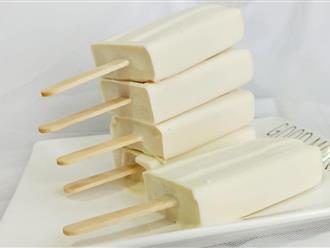 Cách làm kem sữa dừa - Nguyên liệu đơn giản mà vị ngon không kém ngoài hàng