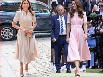 Vẫn kiểu tóc và style quen thuộc nhưng Công nương Kate lại lép vế trước một nhân vật Hoàng gia hơn cô tới 10 tuổi