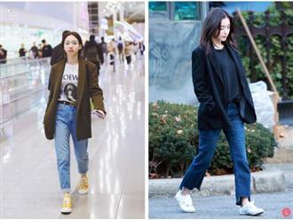 Kiểu giày chân ái của Son Ye Jin: Diện lên vừa hack dáng lại thanh lịch, style công sở sang hơn mấy phần