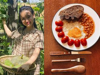 Ăn chay trường giống chị gái, em gái  Angela Phương Trinh chia sẻ bữa ăn khiến dân mạng chú ý