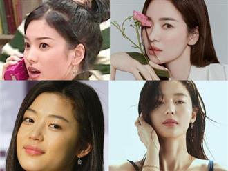 """Song Hye Kyo hay """"mợ chảnh"""" Jeon Ji Hyun thăng hạng nhan sắc đều nhờ bước giảm mỡ phần này trên khuôn mặt"""