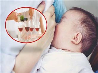 Khi đang cho con bú, mẹ không nên uống rượu vì những lí do này