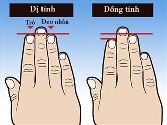Phát hiện bất ngờ: Muốn biết phụ nữ có dễ ngoại tình hay không chỉ cần nhìn ngón tay