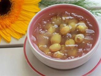 Cách nấu chè hạt sen đậu xanh nha đam ngon tuyệt hảo
