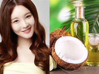 Những cách dưỡng tóc bóng mượt với dầu dừa hiệu quả đón Tết